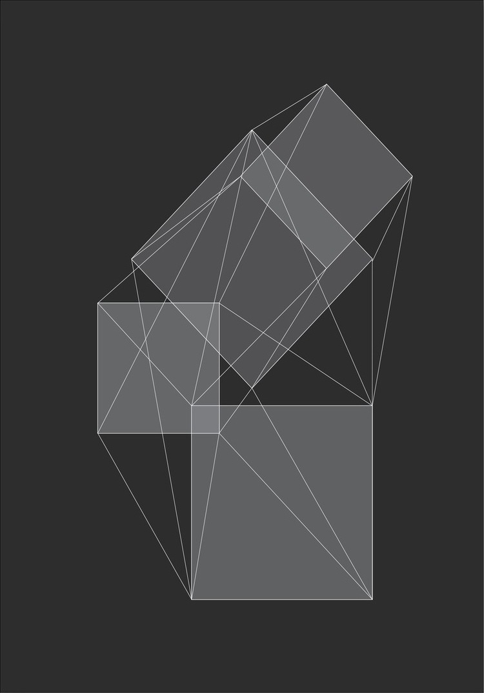 Afbeelding van 3D Box Schets Kunstdruk Poster 42x59.4cm Kunst