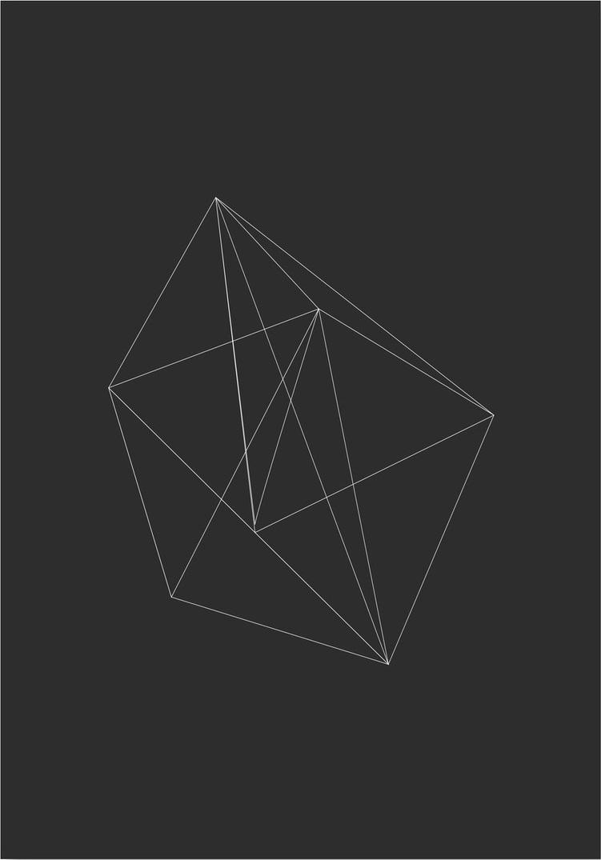 Afbeelding van 3D Prisma Schets Kunstdruk Poster 42x59.4cm Kunst