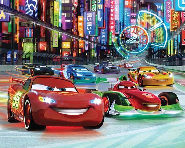 Afbeelding van Cars 12 delig Fotobehang 305x244cm Kinder