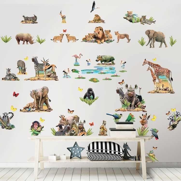 Afbeelding van Jungle Kamer Decoratie Set Kinder Muurstickers