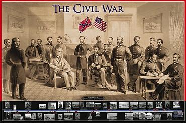 Afbeelding van Burgeroorlog Poster 91.5x61cm Educatieve Posters