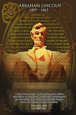 Afbeelding van Abraham Lincoln Poster 61x91.5cm Educatieve Posters