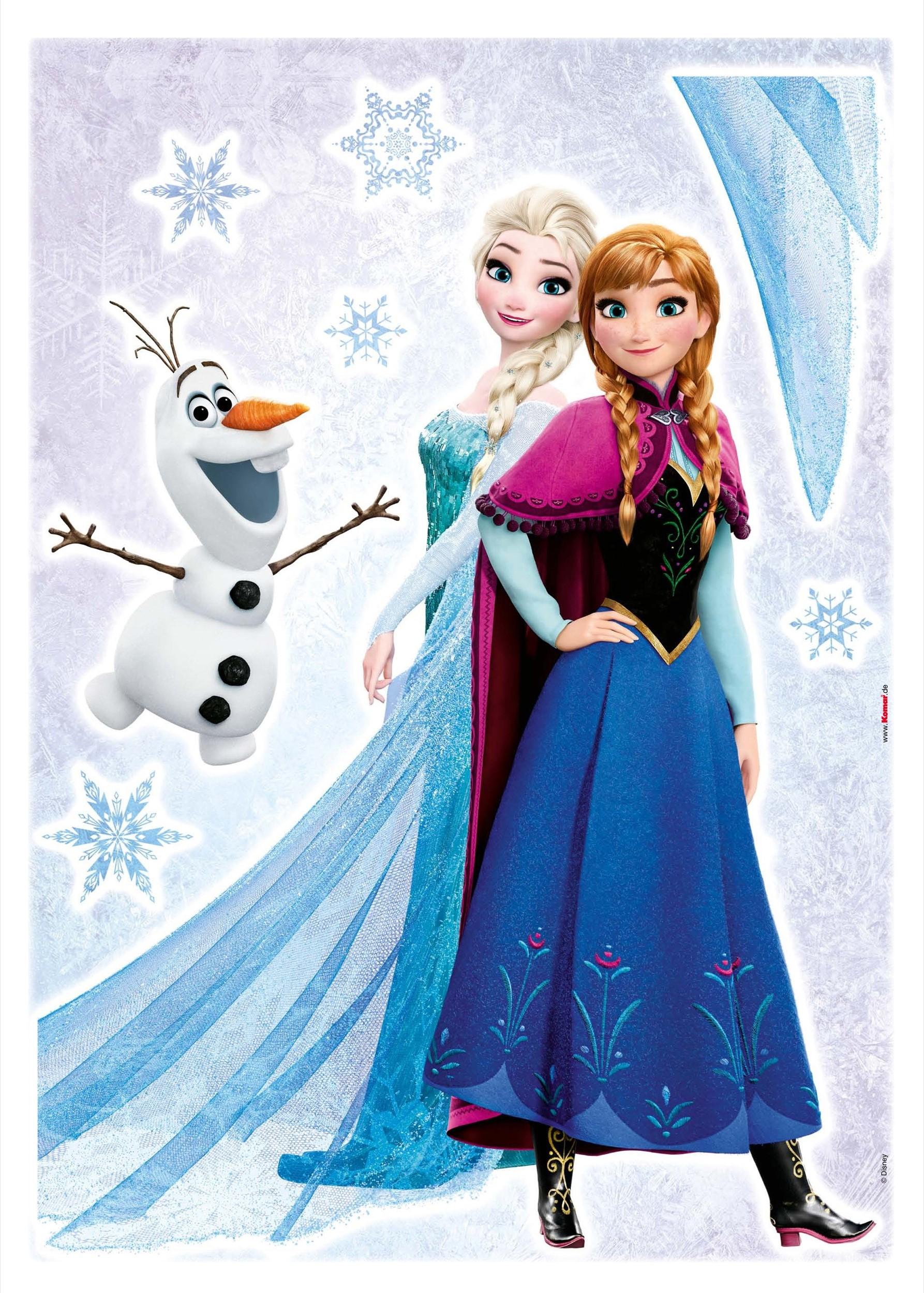 Afbeelding van Frozen Sisters Disney Muurstickers