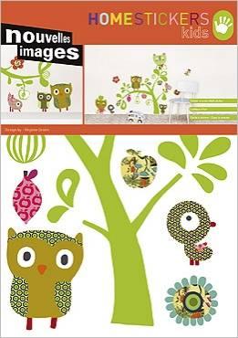 Afbeelding van Nouvelles Images Muursticker Katten, Uilen en Vogels