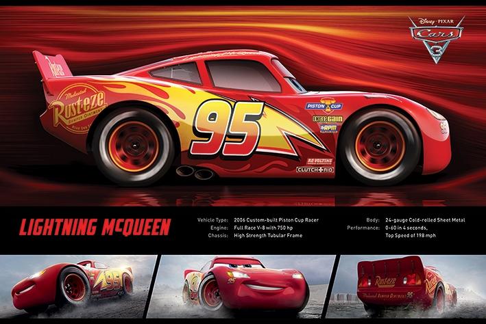 Afbeelding van Cars 3 Lightning McQueen Poster 91.5x61cm Disney Posters