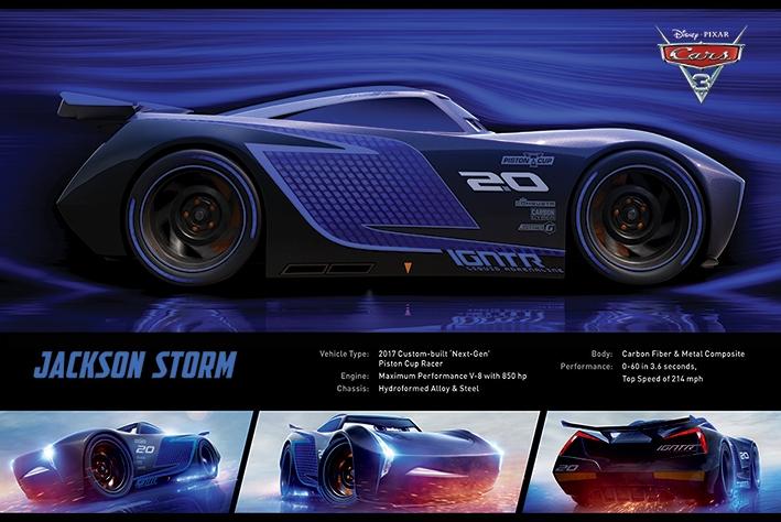 Afbeelding van Cars 3 Jackson Storm Poster 91.5x61cm Disney Posters