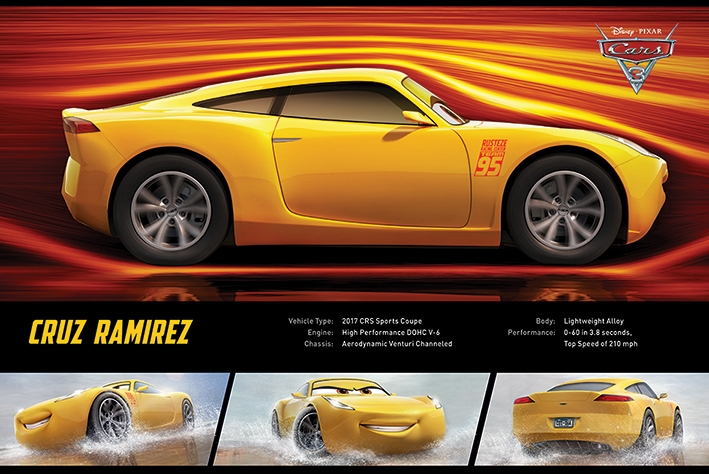 Afbeelding van Cars 3 Cruz Ramirez Poster 91.5x61cm Disney Posters