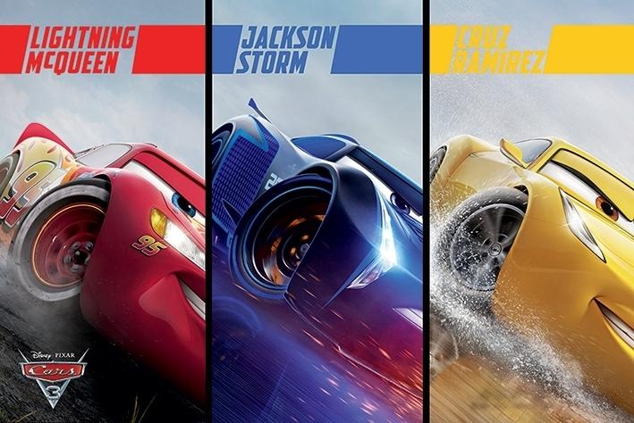 Afbeelding van Cars 3 Split Poster 61x91.5cm Disney Posters