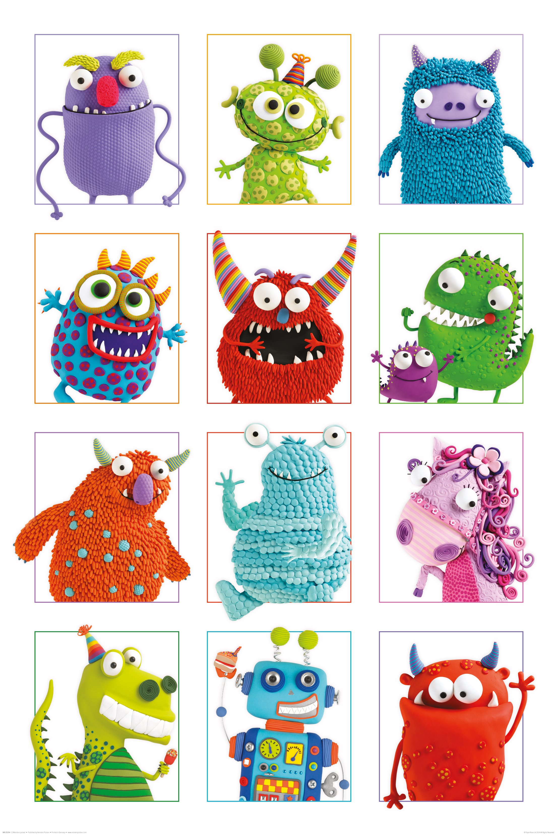 Afbeelding van 12 Monsters Poster 61x91.5cm Humor Posters