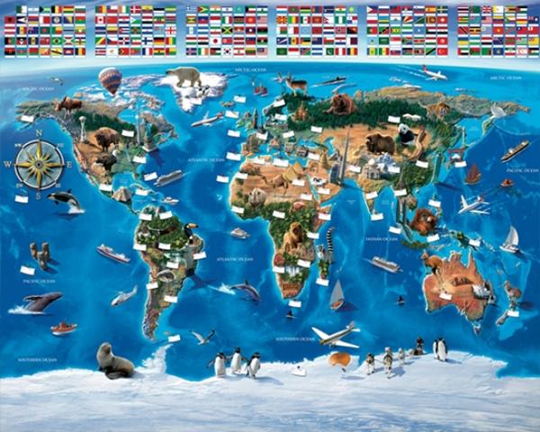 Afbeelding van Walltastic Map of the World